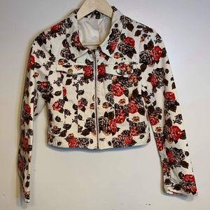 NWOT H&M floral crop jacket H&M Divided 8